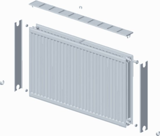 Quinn Quattro paneelradiator compact type 33 900x500mm 1806w wit q33905kd in Wahlwiller