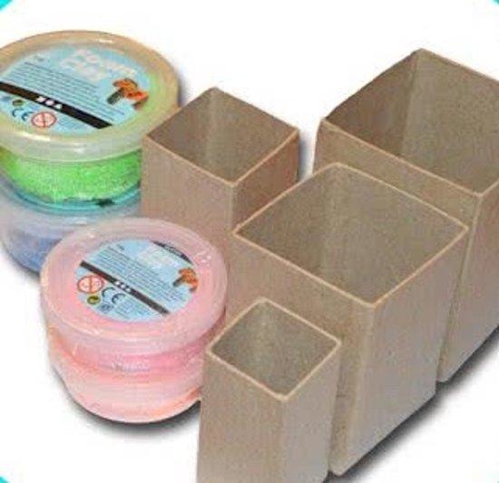 Knutselpakket Pennenbakjes maken (4 stuks) met Foam Clay in Stokhem