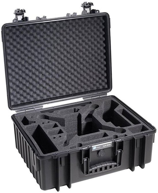B&W Outdoor.cases Copter.case type 6000 zwart / hardfoam DJI Phantom 3 in Olmen