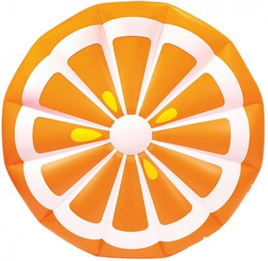 Opblaas sinaasappel schijf 150 cm in De Bus