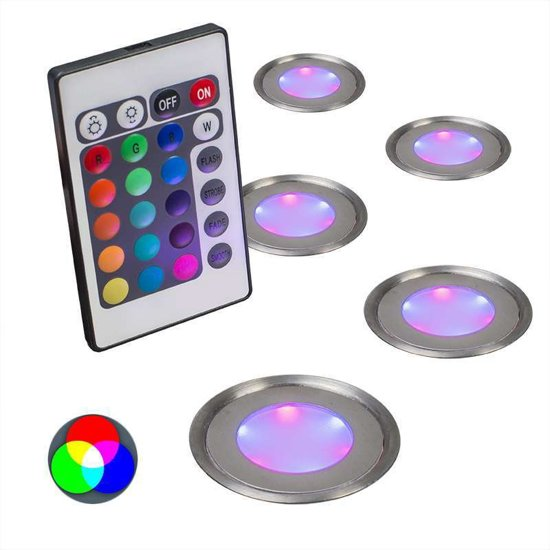 QAZQA Puck  Inbouwspots  LED  IP54  Set 3 Spots  Lichtkleur Warm