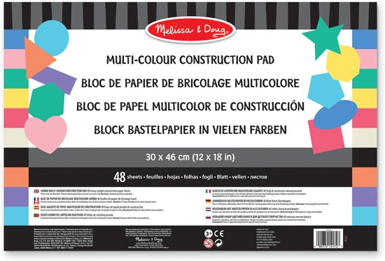 Melissa & Doug - Jumbo Multi-Colour Construction Pad - 59.4 x 42 cm