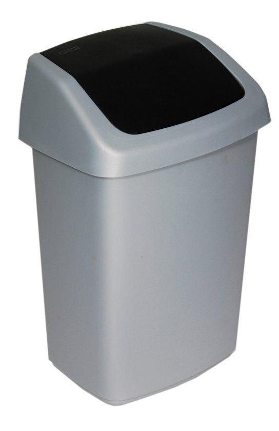 Afvalbak Keuken Plastic : bol.com Curver Afvalbak Swing Afvalemmer – 10 l – Kunststof – Zilver