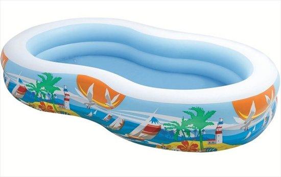 Intex Opblaasbaar Zwembad Paradijs - 262 x 160 x 46 cm in Sint Annerhuisjes