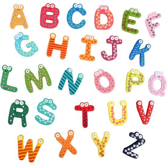 8 Letter Cartoon Characters : Bol alfabet koelkastmagneten vrolijke letters set