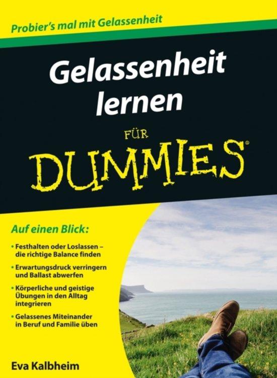 bol.com | Gelassenheit lernen fur Dummies, Eva Kalbheim