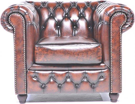 The original chesterfield brighton fauteuil zetel salon met arm antiek bruin - Fauteuil original salon ...