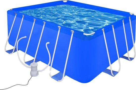 Opbouw zwembad met stalen frame en filterpomp 400 x 207 x 122 cm in Hoeven