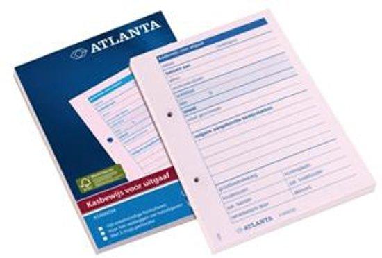 Atlanta Kasbewijs voor uitgaaf A5406-034 A6, blok á 100vel in Nagelbeek