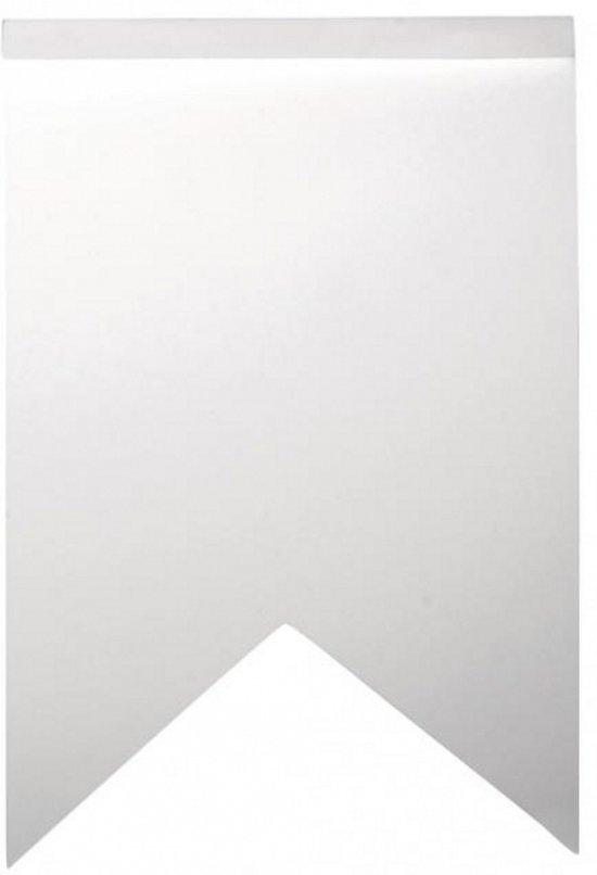 Blanco zigzag vlaggetjes 14 stuks - Hoe om kleuren te maken ...
