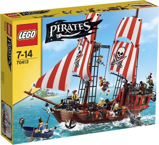 LEGO Pirates Piratenschip - 70413 in Grauwe Kat