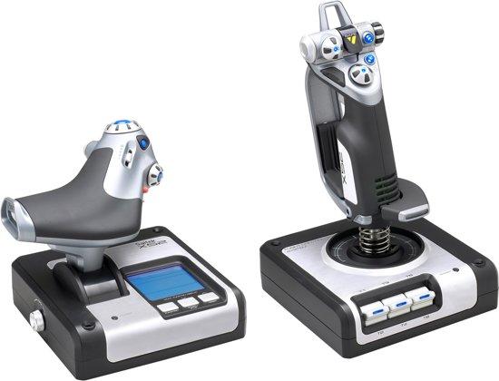 Saitek Vlieg Simulatie X52 Flight Control System Zilver PC