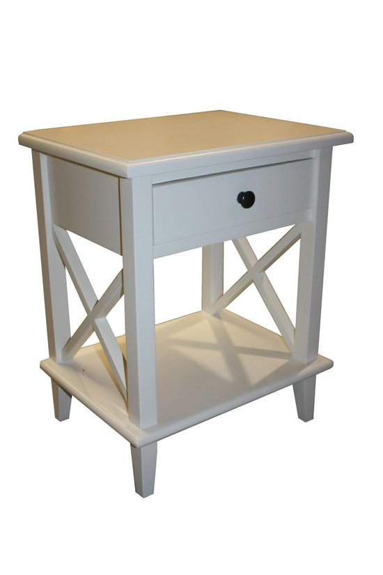 Nachtkastje malm wit eikenhout kopen isbn 10280000056971 - Wit hout nachtkastje ...
