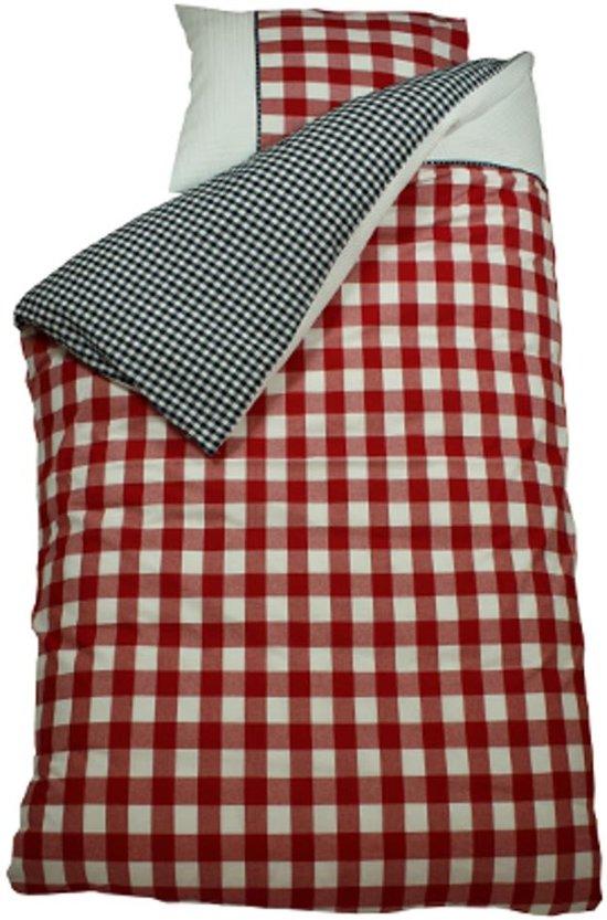 bink bedding bb wafel dekbedovertrek marine rood 140x200 220 cm. Black Bedroom Furniture Sets. Home Design Ideas