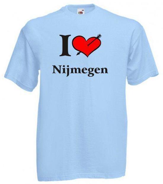 Mijncadeautje T-shirt Blauw (maat M) - Nijmegen in Langeweide