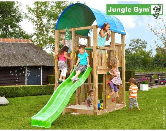Jungle Gym Speeltoren met Glijbaan (lichtgroen) Farm in Luingne