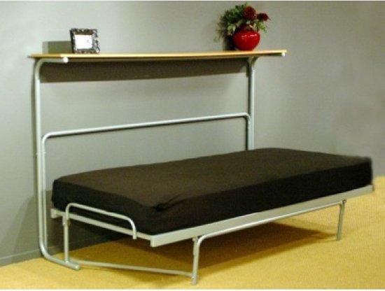 Wentelbed inklapbaar bed zilver 90 x 200 cm for Schlafsofa 200 x 200