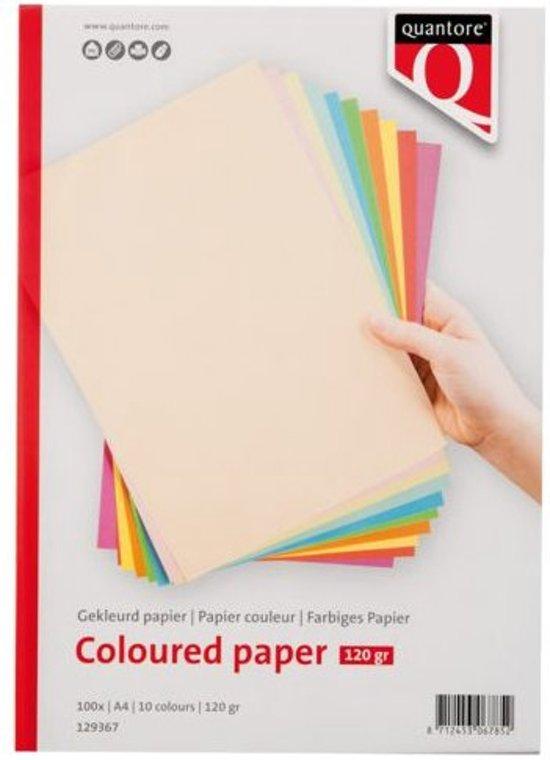 Gekleurd papier Quantore a4 120gr 10 kleuren 100vel