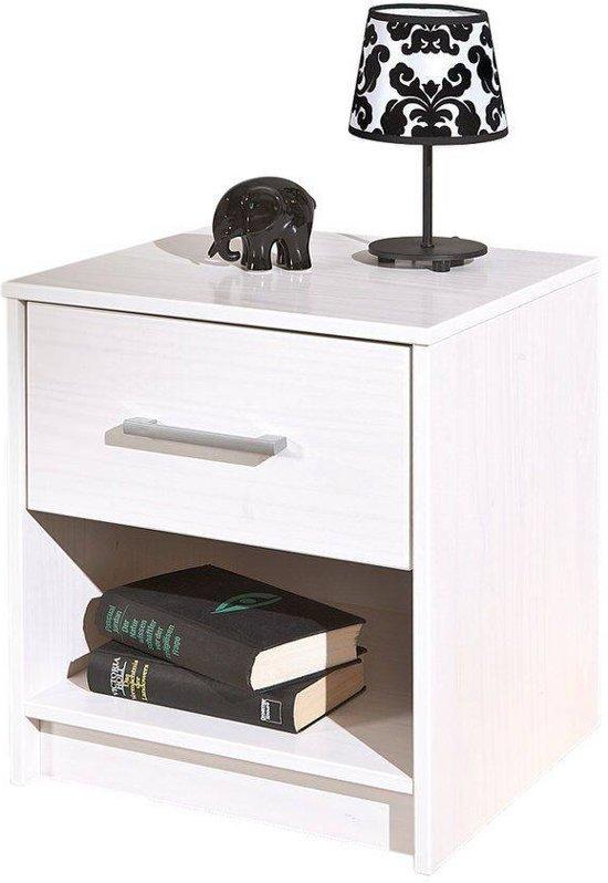 Interlink sas new york nachtkastje wit hout metaal - Wit hout nachtkastje ...