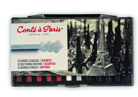 Conté à Paris Schetskrijtjes assorti 12 stuks in Maasband