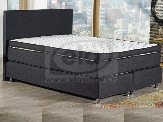 infinity boxspring 180x200 antraciet. Black Bedroom Furniture Sets. Home Design Ideas