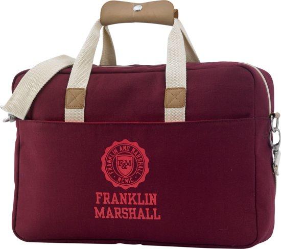Schoudertas Met Laptopvak 15 6 Inch : Franklin marshall schoudertas inch laptopvak grey