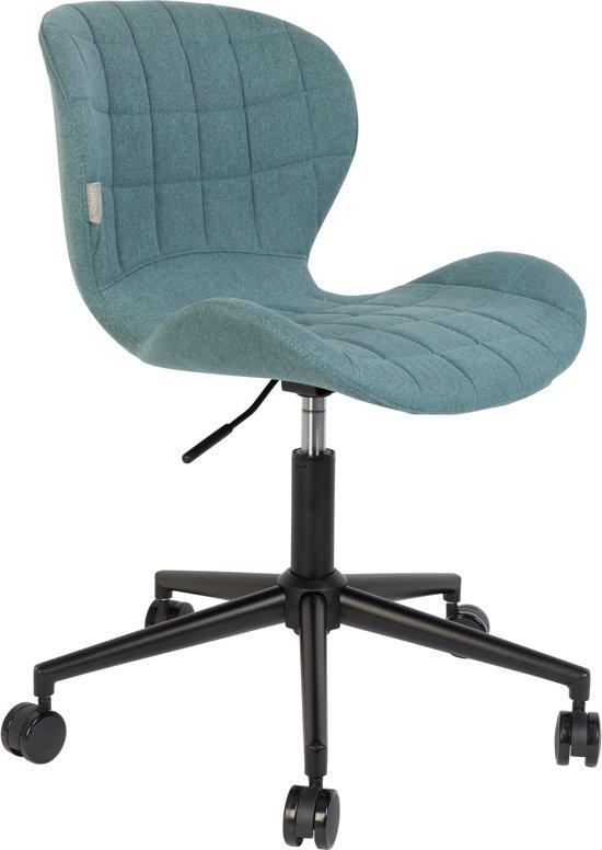 Zuiver omg office bureaustoel blauw zwart for Stoel kind ikea