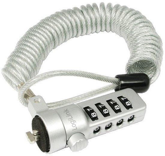 LogiLink NBS008 Combinatie Zilver kabelslot