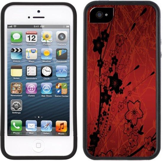 Rode Keukenapparaten : bol.com Black Rode bloemen – Handmade – iPhone 5 5S – Zwart TPU