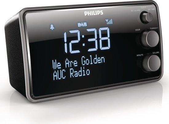 philips ajb3552 dab wekkerradio zwart. Black Bedroom Furniture Sets. Home Design Ideas