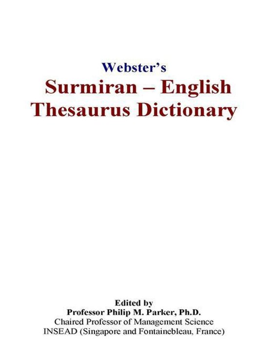 Webster's Surmiran - English Thesaurus Dictionary
