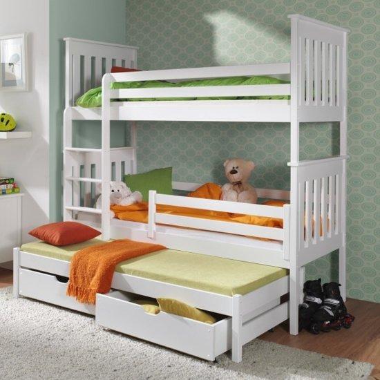 stapelbed alan voor 3 personen 90x200cm 3 gratis matrassen. Black Bedroom Furniture Sets. Home Design Ideas