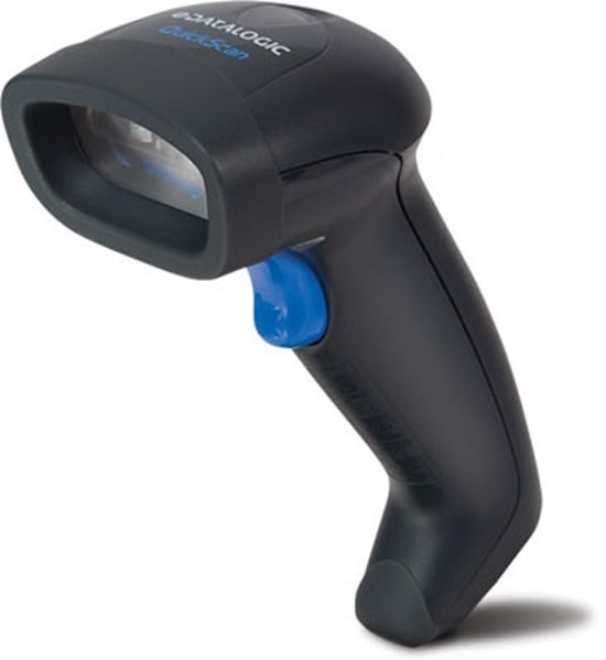 Datalogic barcode scanners QuickScan D2330 Laser reader (black) + KBW cable + stand