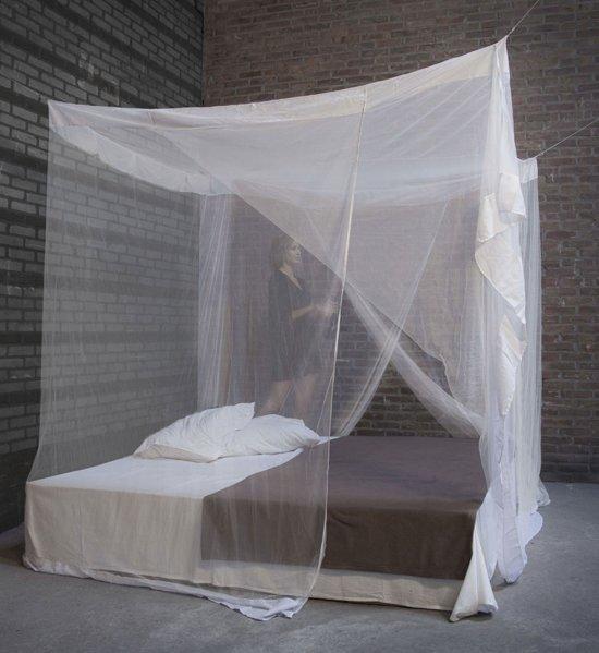 klamboe hemelbed 39 medium 39 ecru 2 deurs. Black Bedroom Furniture Sets. Home Design Ideas