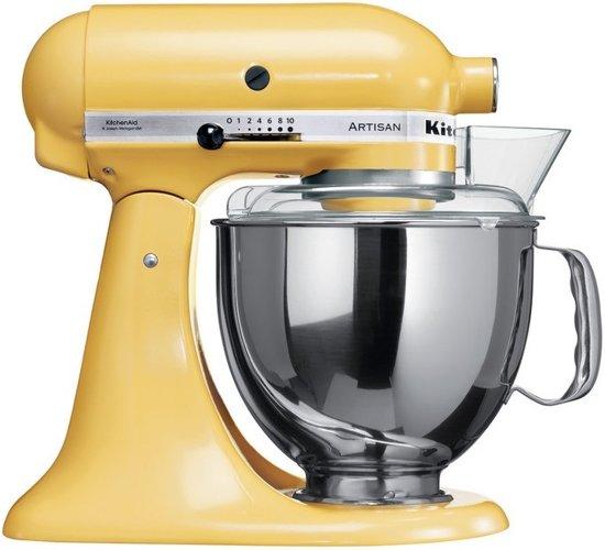 kitchenaid artisan 5ksm150psemy keukenmachine geel. Black Bedroom Furniture Sets. Home Design Ideas