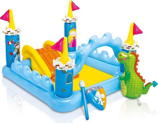 Intex fantasy castle play center zwembad intex for Zwembad vierkant intex