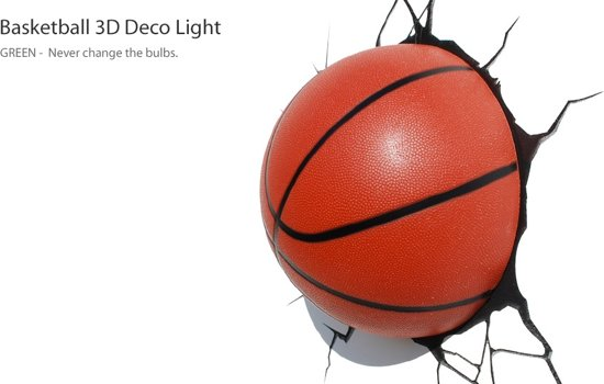 3d basket ball light gizzys speelgoed - Zoon deco kamer ...