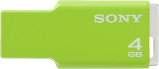 Sony USM4GM Usb 4gb Micro Vault Ultra Green 4GB - USB-Stick / Groen