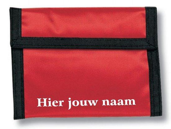 mijncadeautje - naamportemonnee Stefan - Polyester - rood - met voornaam in Heille
