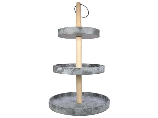Gusta etagere 3 laags h50cm beton look for Etagere 50 cm de large
