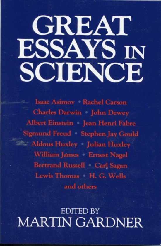 essays in science Writing essays and dissertations the basics of scientific writing are always the same, whatever the task  but it no longer has a place in science (i) .