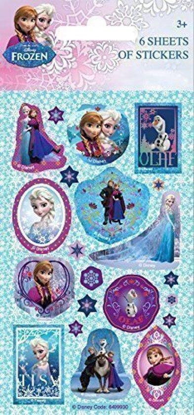 Uitdeelcadeautjes Frozen: 6 sticker vellen in Kruispolderhaven