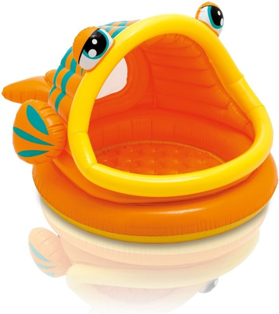 Intex Lazy Fish Shade Baby Zwembad in Platveld