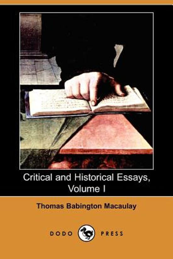 Write my critical and historical essays macaulay