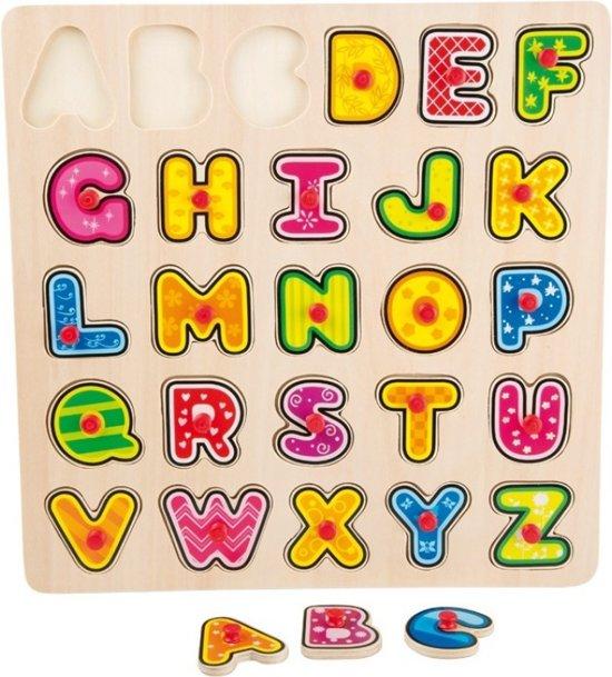 houten ABC puzzel alfabet in Westeneng