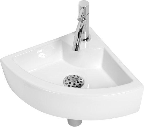 Wasbak Badkamer Kraan ~ Plieger Miami Fontein Toilet  Set  Hoekfontein 32 x 32 cm inclusief