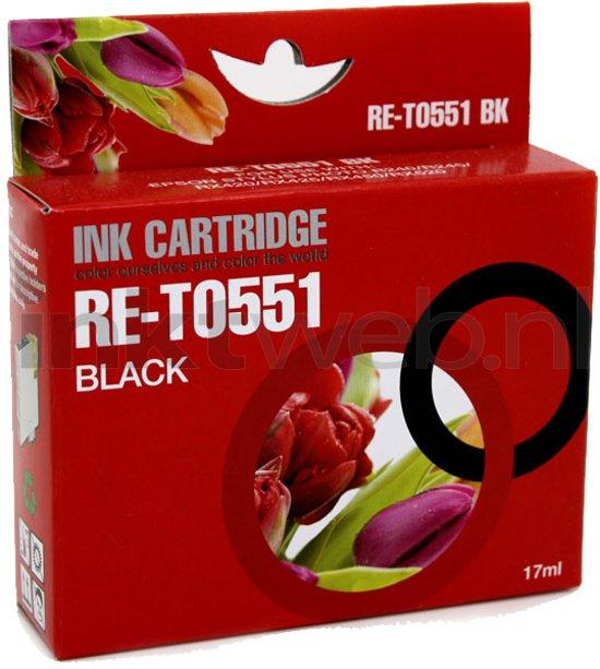 Merkloos - Inktcartridge / Alternatief voor de Epson T0551 / Zwart