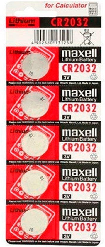 batterij maxell 3v knopfzelle cr2032 5 stuks. Black Bedroom Furniture Sets. Home Design Ideas