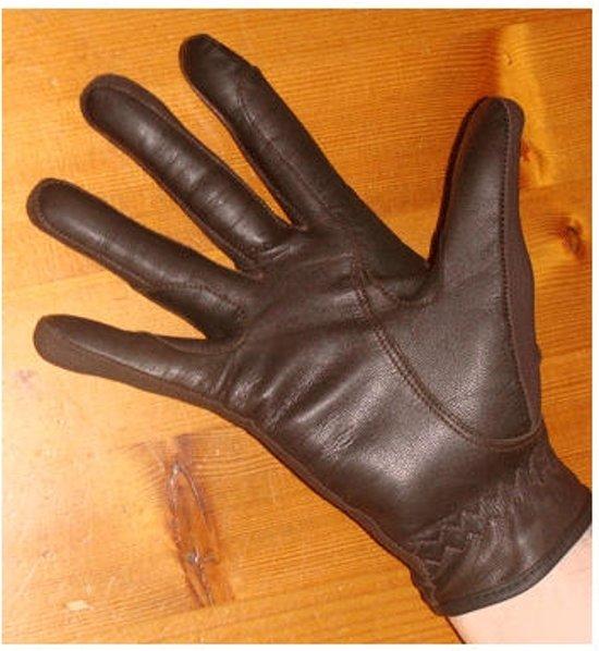 HB Lederen Handschoenen   Bruin   S