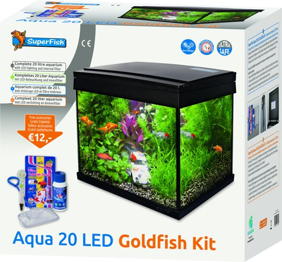 superfish aquarium 20 led goldfish kit. Black Bedroom Furniture Sets. Home Design Ideas